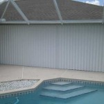 Pool Patio using Hurricane Shutters from AMD Supply