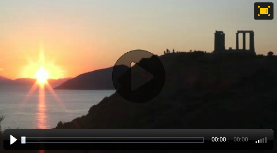 "Video Sunset Timelapse of the Temple of Poseidon in Sounion, Greece used by PBS and National Geographic's ""The Greeks"" 3-part special television broadcast"