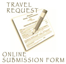 Travel Request Online Submission Form Button