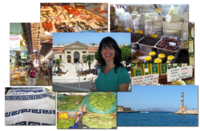The beautiful town of Chania and a visit to the local produce and Farmers Market.