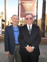 Australian Director Stanislaw Karpinski and James Stathis (CelebrateGreece.com) appears at Opening Night Los Angeles Greek Film Festival