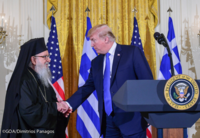 President Trump hosts Archbishop Demetrios and Greeks at the White House for Greek Independence Day March 25