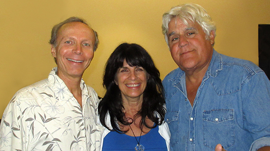 Jay Leno, Cynthia Daddona and James Stathis