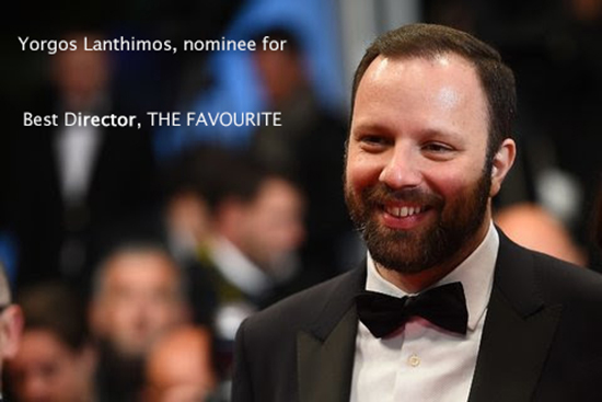 Yorgos Lanthimos, nominee for best director, THE FAVOURITE
