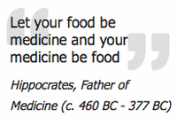 Let medicine be your food and food be your medicine