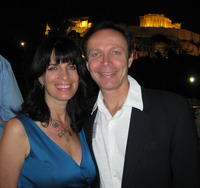 James Stathis and Cynthia Daddona-Stathis at Dionysus Restaurant