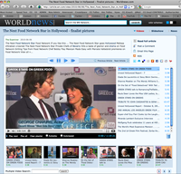 World News' Coverage of our video interviews of celebrities