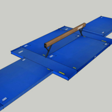 FIG Competition Balance Beam Landing Mat Configuration