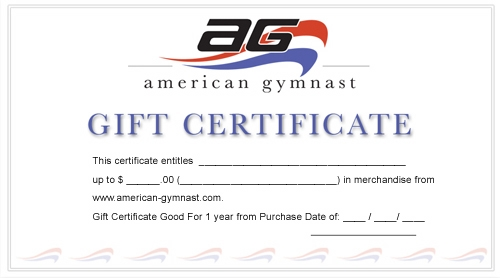 american gymnast gift certificate