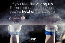 Hold On Motivational Gymnastics Poster