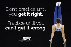 Can't Get it Wrong Motivational Gymnastics Poster
