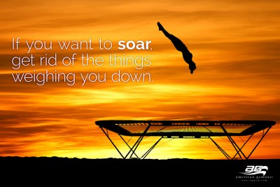 Soar High Motivational Gymnastics Poster