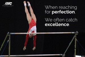 Catch Excellence Motivational Gymnastics Poster