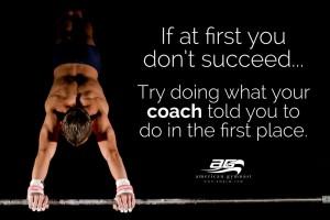 Listen to Coach Motivational Gymnastics Poster
