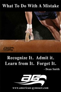 """Learn From Mistakes"" Motivational - 24"" X 36"" Gymnastics Poster"