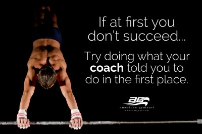 "Listen to Coach Motivational - 60"" X 34"" Gymnastics Poster"