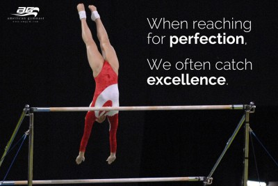 "Catch Excellence Motivational - 24"" X 36"" Gymnastics Poster"