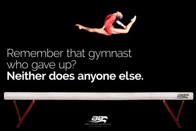"Don't Give Up Motivational - 46"" X 72"" Gymnastics Banner"