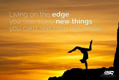 "Living on the Edge Motivational - 24"" X 36"" Gymnastics Poster"
