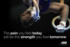 "Strength Tomorrow Motivational - 34"" X 60"" Gymnastics Banner"