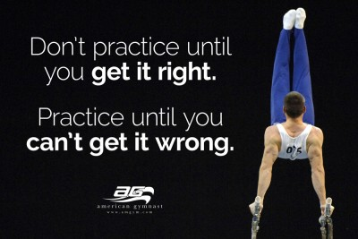 "Can't Get it Wrong Motivational - 24"" X 36"" Gymnastics Poster"