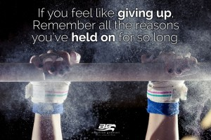 "Hold On Motivational - 24"" X 36"" Gymnastics Poster"