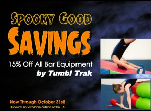 Save 15% in October on Tumbl Trak Bar Equipment