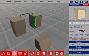 3D Gym Design Software includes Obstacle Training