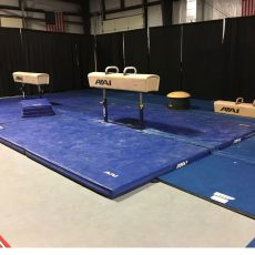 Used Pommel Horse Competition Landing Mat System