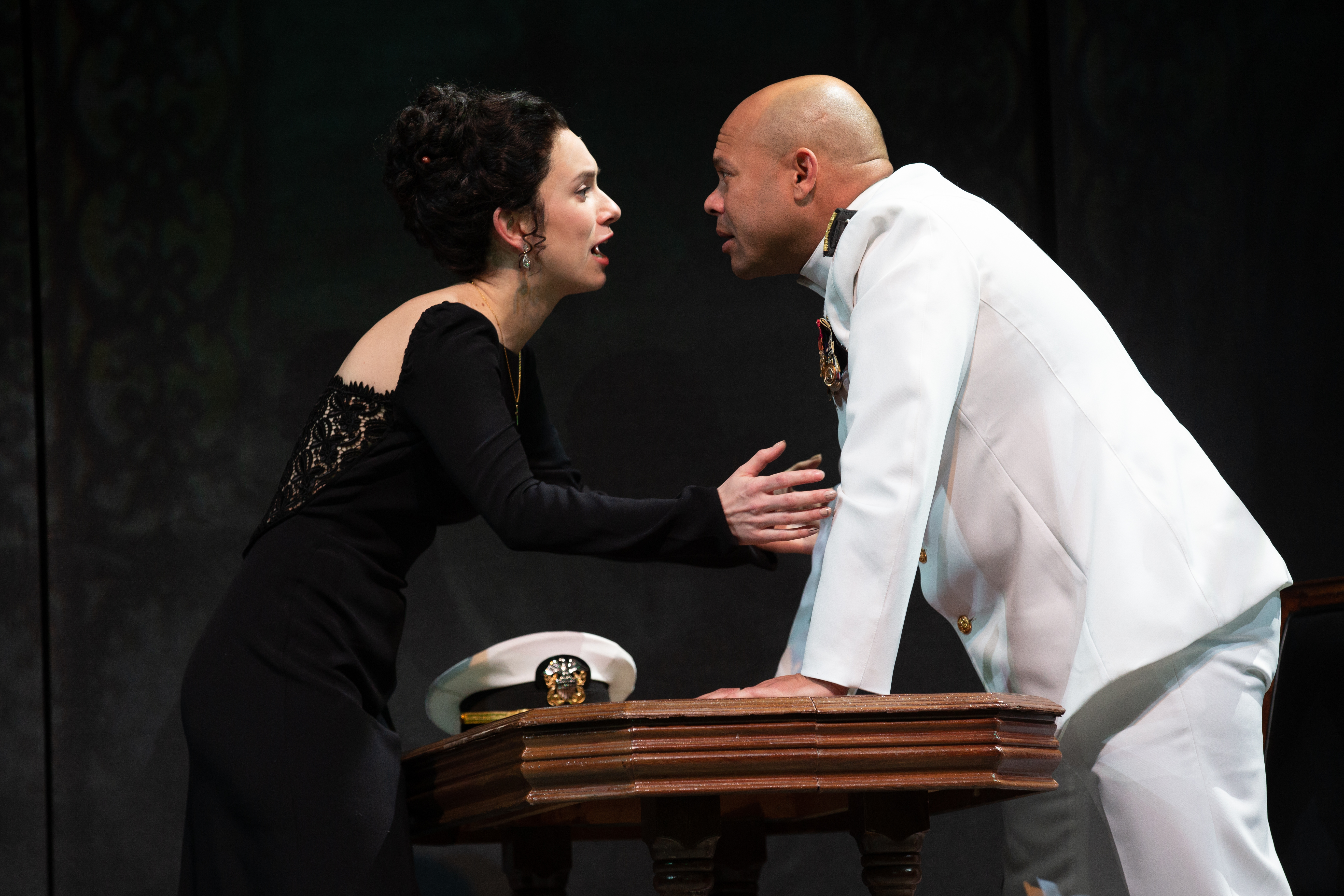 Alejandra Escalante and Chris Butler in Othello.