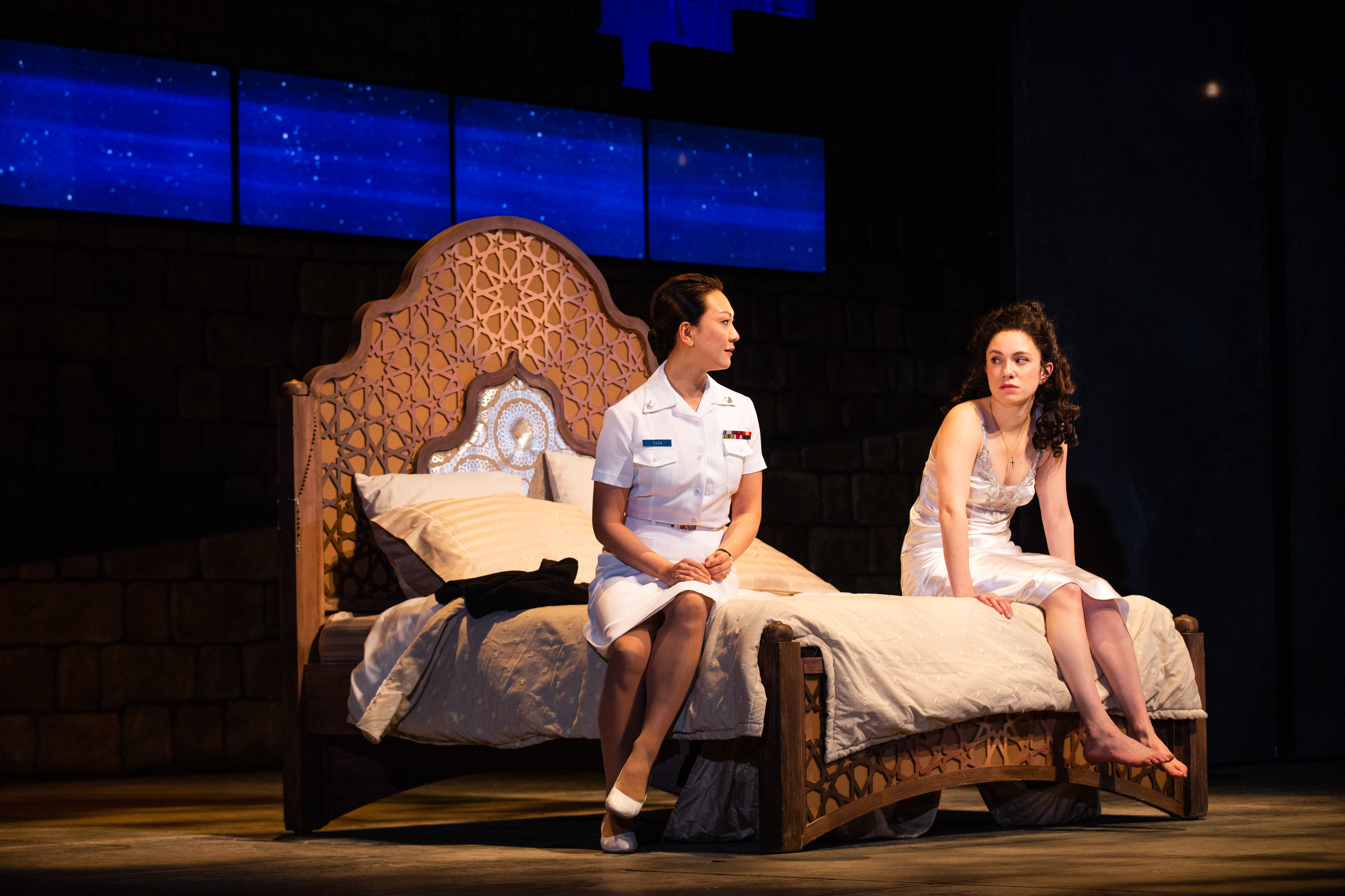 Amy Kim Waschke and Alejandra Escalante in Othello.