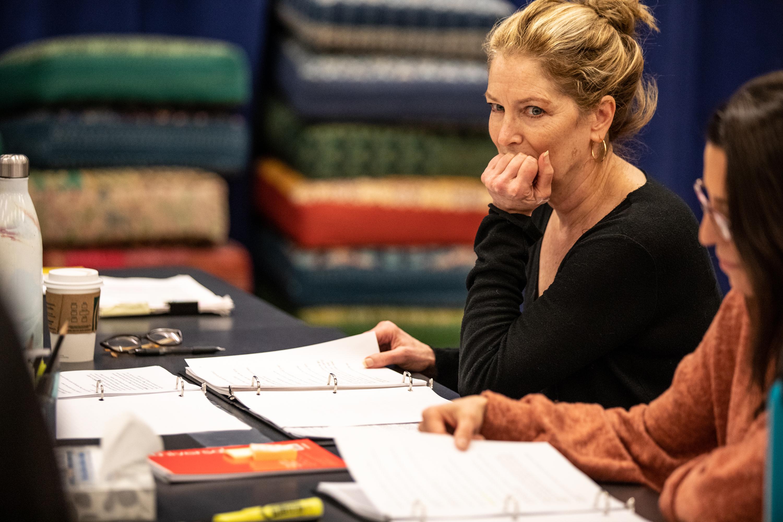 Patricia Kalember in rehearsal