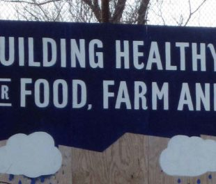 Billboard at Civic Works Real Food Farm | Jenny Hughes