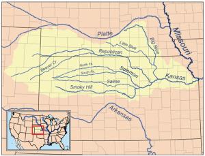 Map of the Kansas River drainage basin | Wikimedia Commons