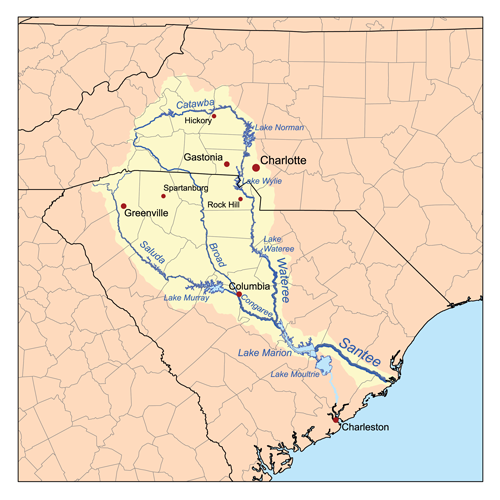 Map Of Georgia Lakes And Rivers.Catawba River American Rivers