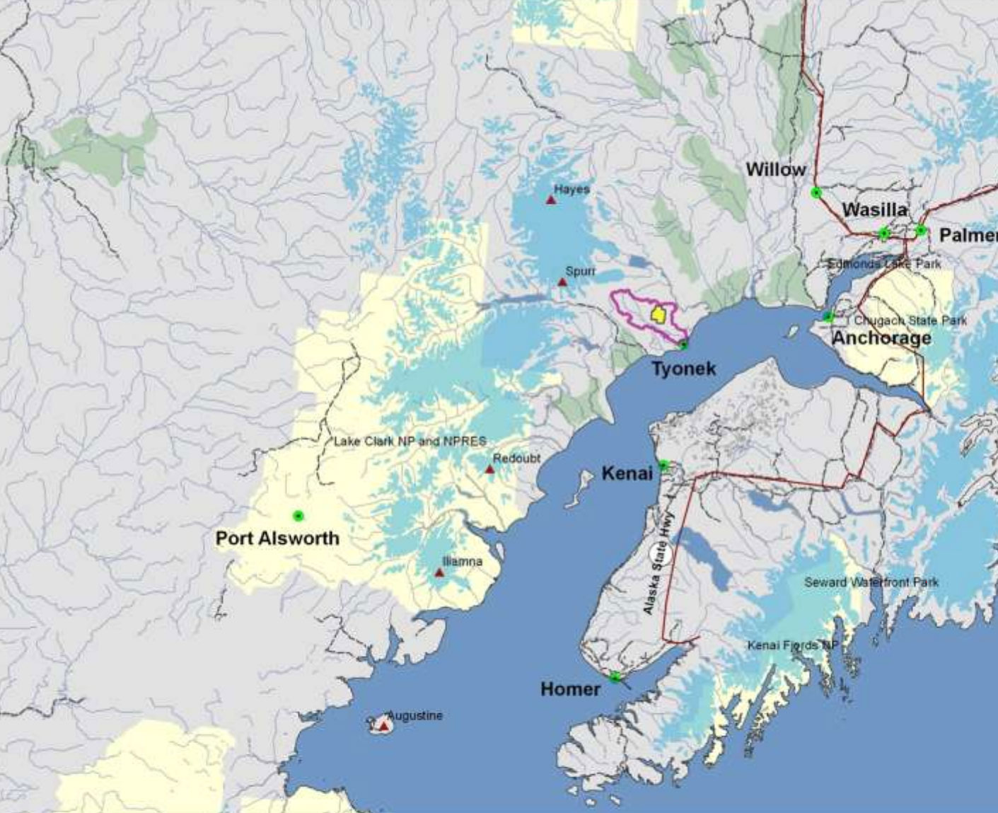 Port Alsworth Alaska Map.Chuitna River American Rivers