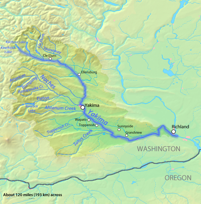 Yakima River | American Rivers on pend oreille river washington state map, columbia river washington state map, skagit river washington state map, snake river washington state map,