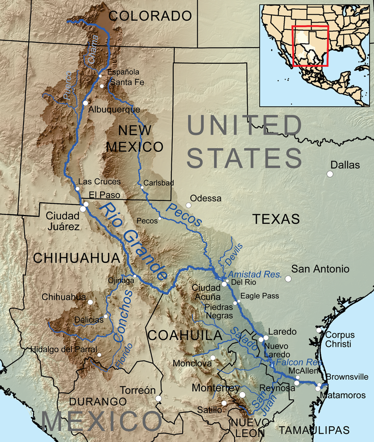 Rio Grande On Map Rio Grande | American Rivers Rio Grande On Map