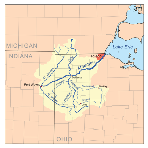Map Of Ohio Rivers And Cities.Maumee River American Rivers