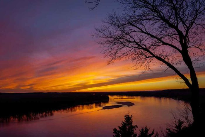 Sunset Over the Missouri River | Heath Cajandig FlickrCC