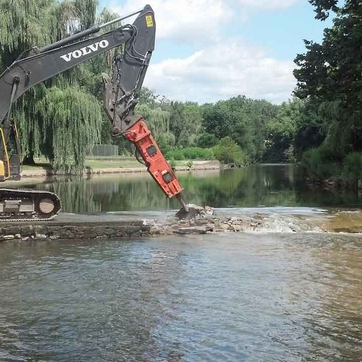 Jordan Park Dam removal on Jordan Creek in Allentown, PA | Laura Craig