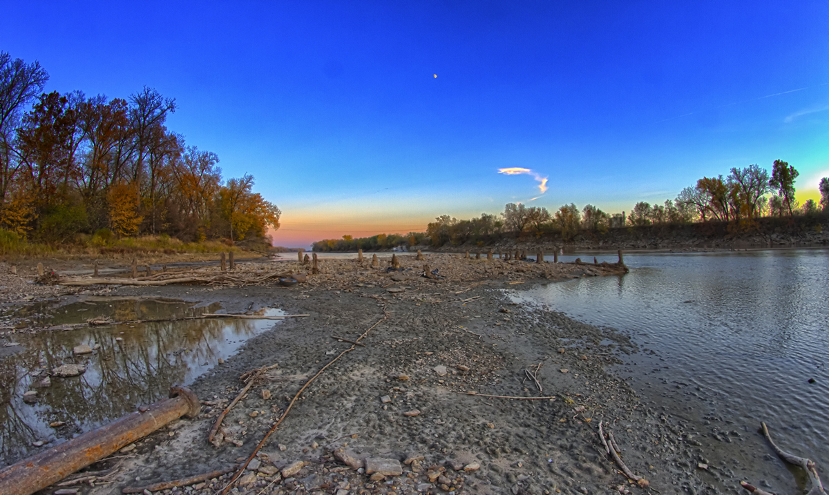 Remnants of the first bridge across the Kansas River   Patrick Emerson