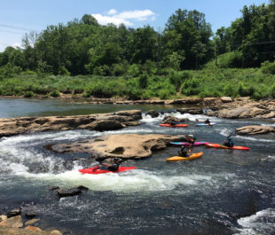 Kayaking on the Tuckasegee River | Photo by JCTDA