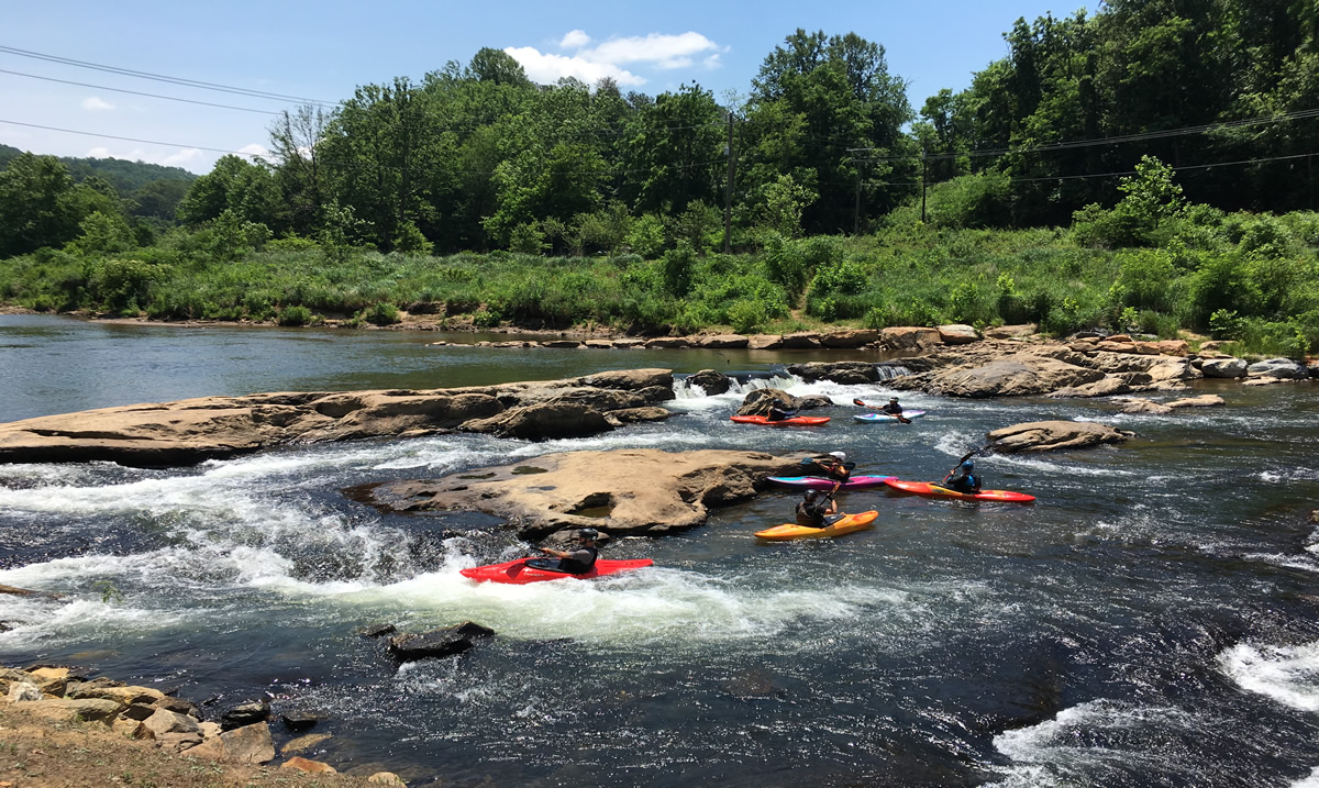 Kayaking on the Tuckasegee River, a tributary of the Little Tennessee | JCTDA