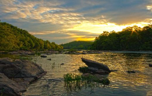 The Rappahannock River in Fredericksburg | justin.critzer (Flickr)