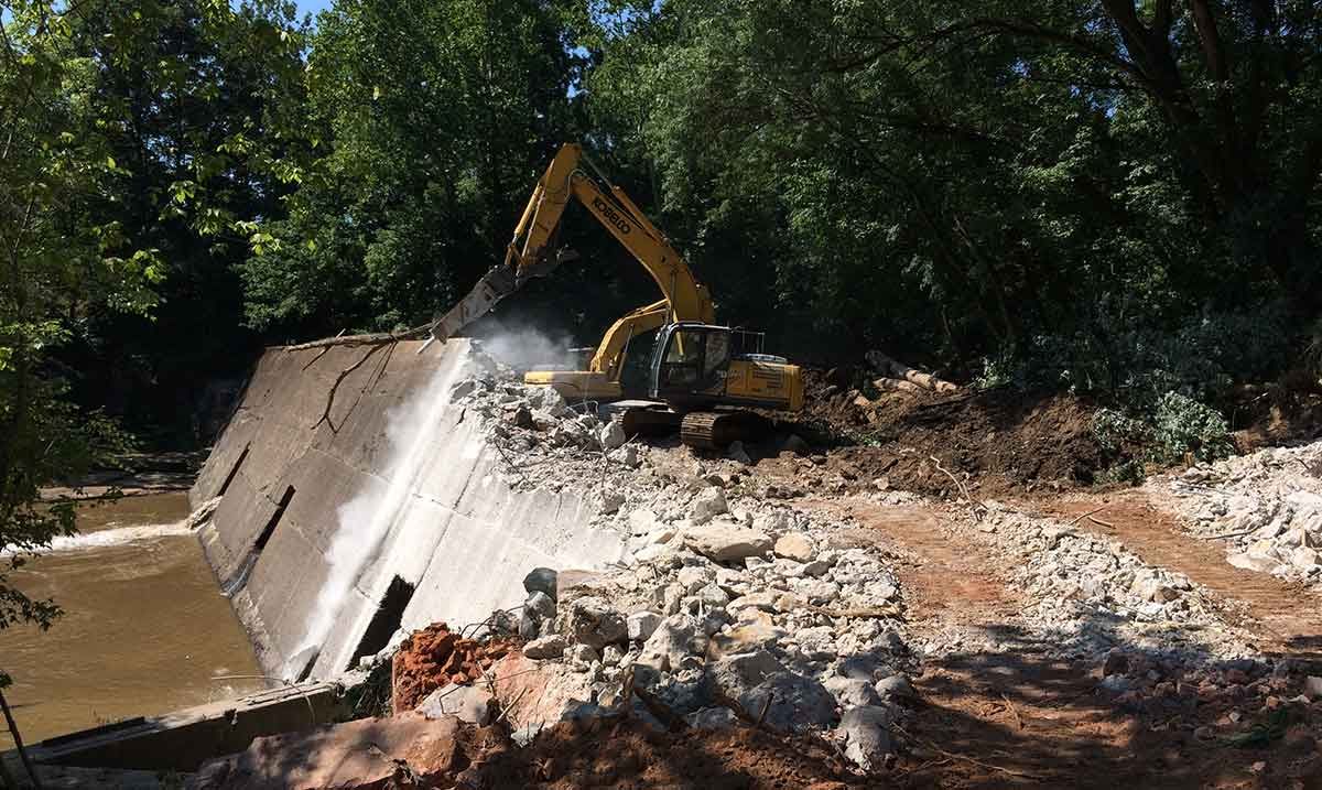 shuford dam removal