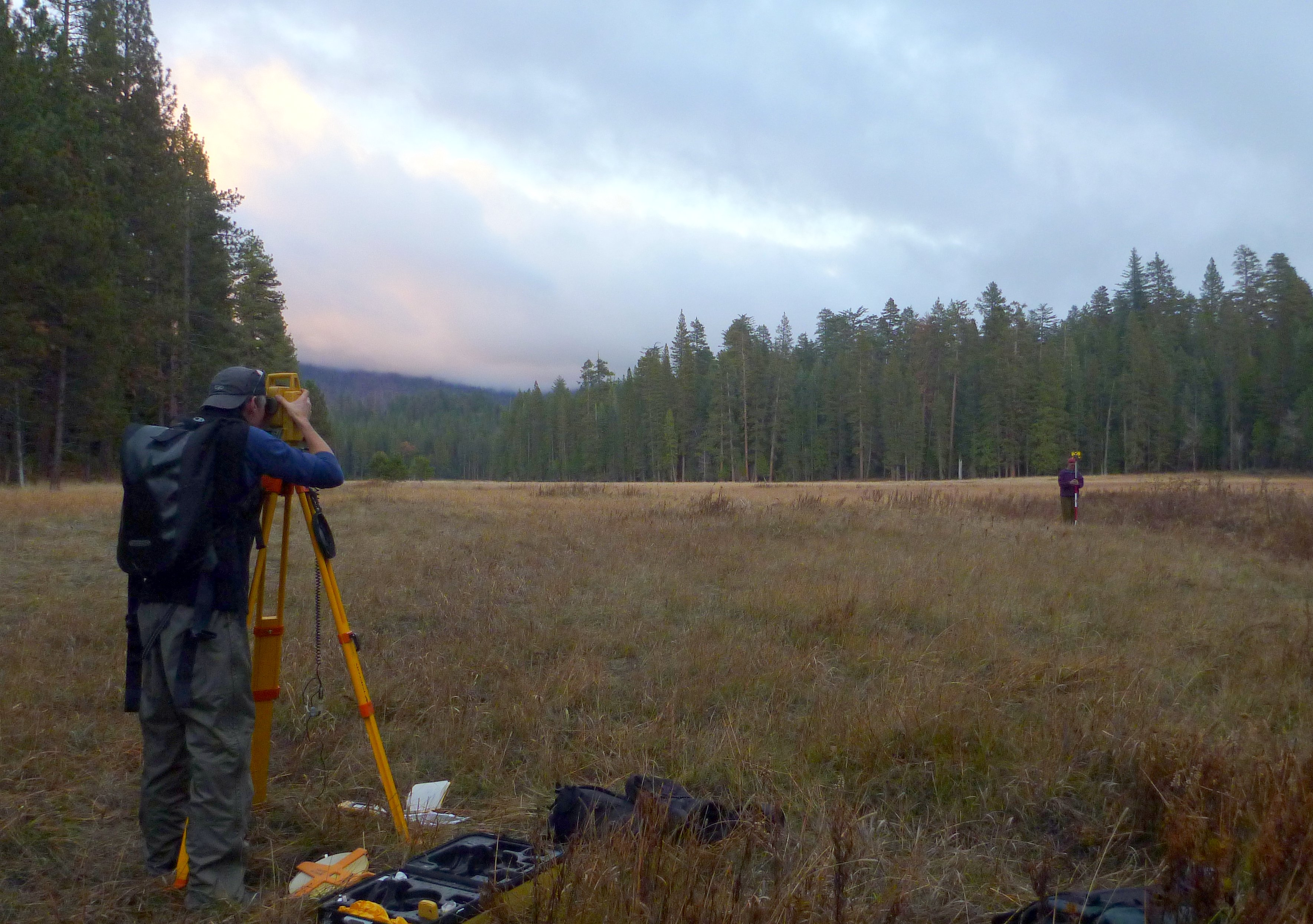 Surveying Ackerson Meadow | Luke Hunt