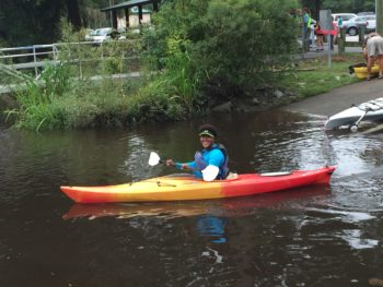 Kayaker sets out to find trash on the Ashley River. | Gerrit Jobsis