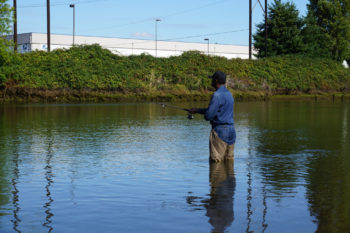 Fisherman on the Duwamish River. | King County Natural Resources and Parks