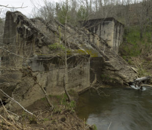 The Cane River dam pre-removal. | Jeff Rich